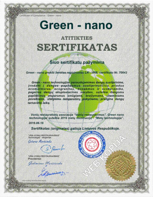 Vonios restauravimas - Green nano MAX technologija